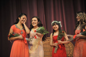 The Rose Festival Court Program is now recruiting for the 101st Queen of Rosaria. Candidates must be female; attend a 4A, 5A or 6A high school in Multnomah, Washington or Clackamas counties; be a junior or senior this year; have a 3.0 GPA (exigent circumstances do apply); a record of community service. The Madison High School court reacts to Princess Amie Whipple's selection in 2013. STEPHANIE YAO LONG/THE OREGONIAN