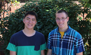 Portland Lutheran School students Daniel Barnes (left) and Ian Lortz placed in the top five percent on the National Merit scholarship qualifying test. COURTESY LISA NOREEN