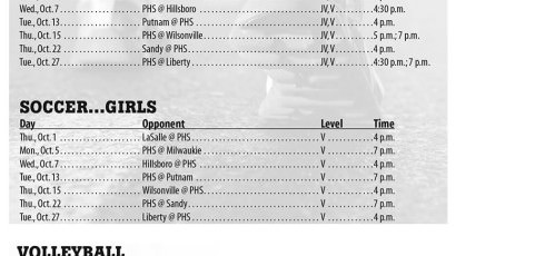 October 2015 – Parkrose High School Athletic Schedule