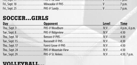 September 2015 – Parkrose High School Athletic Schedule